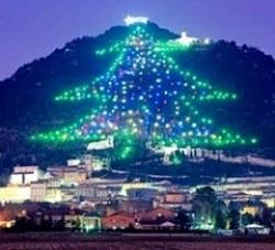 pomul de craciun din Gubbio, muntele ingino